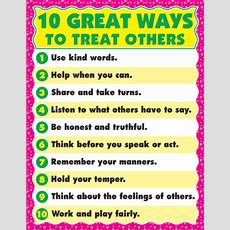 Dominie  10 Great Ways To Treat Others Chart