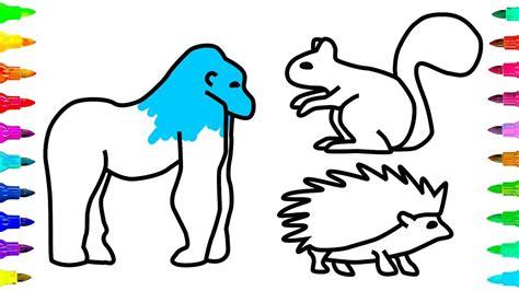 Coloring Page Gorilla - Castrophotos
