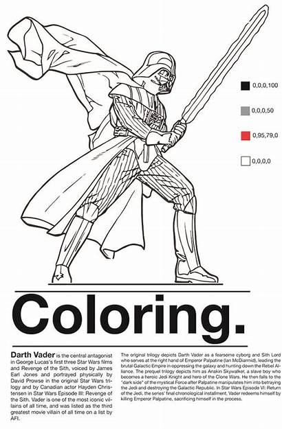 Vader Darth Coloring Malvorlagen Wars Printable Project