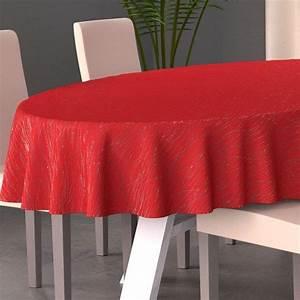 Nappe Table Ovale : nappe ovale l230 cm glitter rouge nappe de table eminza ~ Teatrodelosmanantiales.com Idées de Décoration