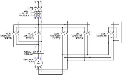 delta wiring diagram forward power circuit of a delta or wye delta forward