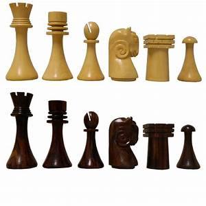 Artistic, Ram, U0026, 39, S, Head, Design, Cardinal, Rosewood, Chess, Pieces