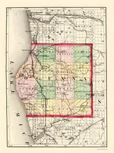 Oceana County Michigan Map