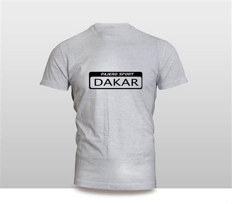 Kaos Rally Dakar Mitsubishi Pajero jual kaos baju pakaian mobil mitsubishi pajero sport dakar