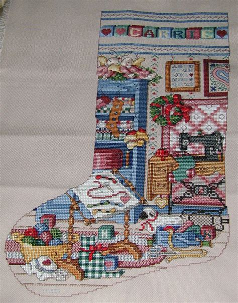 cross stitch and country crafts christmas stockings