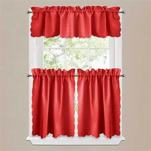 Red modern kitchen curtains quicuacom for Modern kitchen curtains 2018