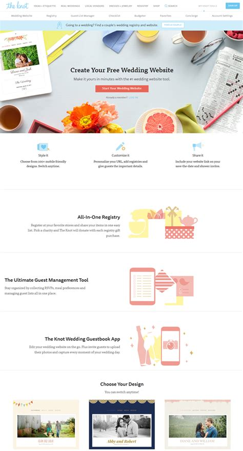 Theknot Websote Templates by Top 10 Practical Free Wedding Website You Need To Know