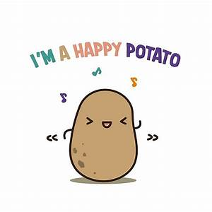 """Happy potato"" Posters by clgtart Redbubble"