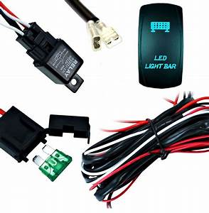Light Bar Wiring Harness With Relay And Fuse   Rocker