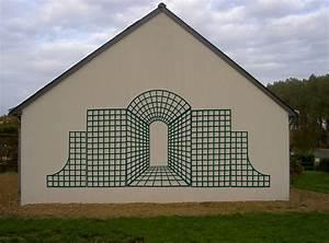 Décorer Un Mur Extérieur : treillage bois treillis ~ Dailycaller-alerts.com Idées de Décoration