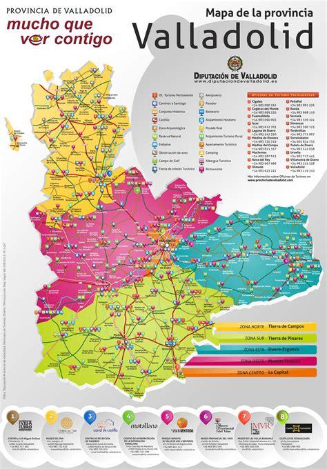 province  valladolid tourist map