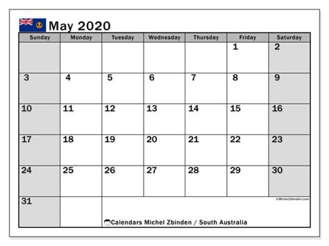 calendar south australia australia michel