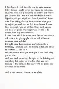 Perks of Being a Wallflower Quotes with Pages