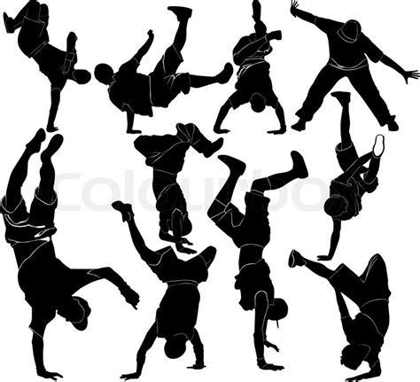 Streetdance Kleurplaat by Collection Breakdance Silhouette Stock