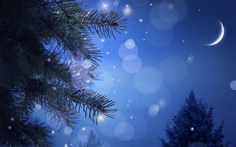 Christmas Moon Night Sky Wallpapers
