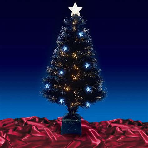 beautiful 32 quot 80cm black fibre optic christmas tree with