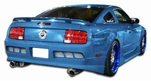 2006 Ford Mustang Fiberglass+ Rear Bumper Body Kit - 2005-2009 Ford Mustang Duraflex GT Concept ...