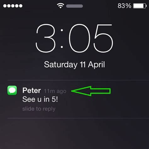 iphone lock screen notifications set apple to display time ahead feature
