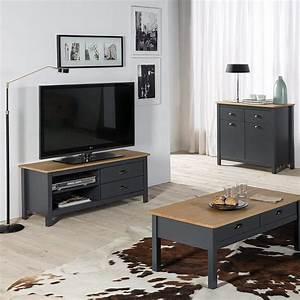 Meuble Tv Bois Gris : bien choisir la couleur de son meuble tv blog but ~ Teatrodelosmanantiales.com Idées de Décoration