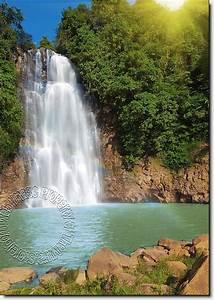 Poster Mural Nature : rainbow waterfall mural ~ Teatrodelosmanantiales.com Idées de Décoration