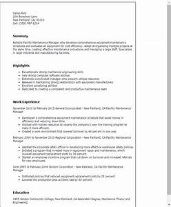 facility maintenance manager resume template best design With maintenance manager resume template