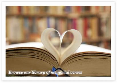 Verses Memorial Verse Library Prayer Card Loved
