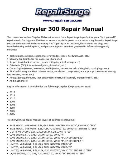 chrysler  repair manual