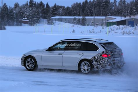 bmw   series touring facelift spied testing
