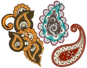 Indian Paisley Designs Clip Art