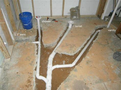 vent  basement bathroom plumbing