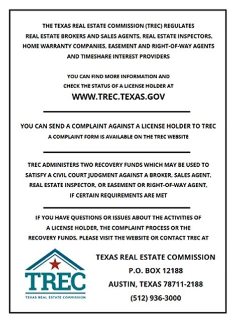 Employee Consent Form For Recording Calls by Consumer Protection Notice Trec