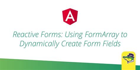angular dynamic form reactive forms in angular dynamically creating form