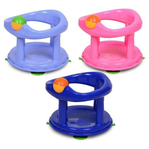 baby bathtub seat safety 1st child toddler swivel bath support seat pink