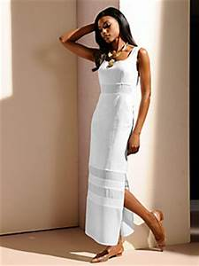 robe longue blanche en lin empiecements transparents With robe longue en lin