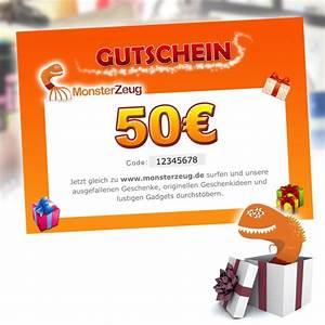 Geschenke Für 50 Euro : geschenk gutschein 50 euro monsterzeug geschenk gutschein ~ Frokenaadalensverden.com Haus und Dekorationen
