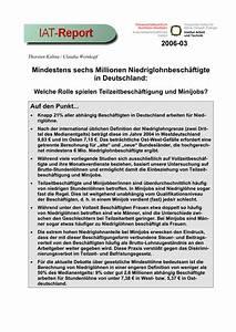 Minijob In Duisburg : pdf mindestens sechs millionen niedriglohnbesch ftigte in deutschland welche rolle spielen ~ Yasmunasinghe.com Haus und Dekorationen