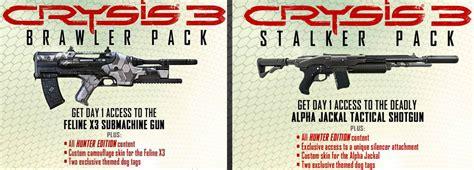 Crysis 3 Stalker Pack And Brawler Pack Dlc Cd Key