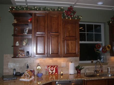 garland above kitchen cabinets decorating top of kitchen cabinets for best 3735