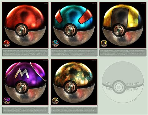 Pokeballs 3d 1st Generation By Robbienordgren On Deviantart