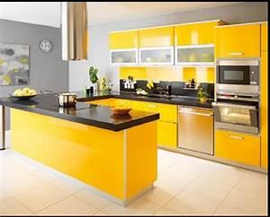 repeindre sa cuisine de a a z et a petit prix deco cool With good meuble ilot central cuisine 3 idee couleur cuisine la cuisine rouge et grise