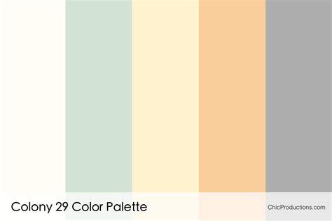 color palete color palettes chic productions