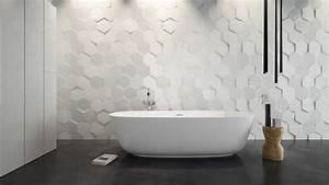 Carrelage Hexagonal Blanc : salle de bain moderne les tendances actuelles en 55 photos ~ Premium-room.com Idées de Décoration