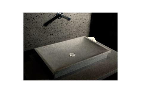 evier rectangulaire cuisine 60x40 vasque en granit de salle de bain à poser dune