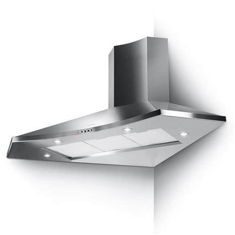 hotte angle cuisine hotte d 39 angle solaris eg6 100x100cm 570m3 h inox faber