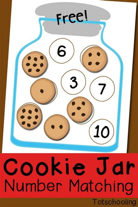 cookie jar number matching free printable preschool math 718 | 6b7f5b1a61b097445f5ac3453222131b