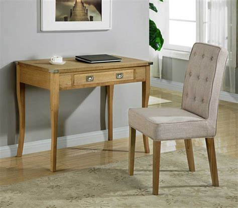 modern finish solid oak writing desk with chair