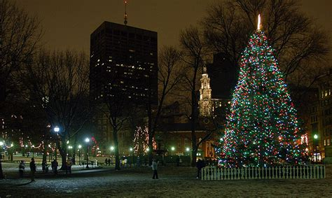 the downtown boston holiday season is official with the boston common tree lighting