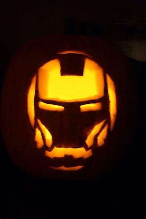 iron pumpkin stencils iron man pumpkin carving geeky gourds nerdy halloween jack o lante