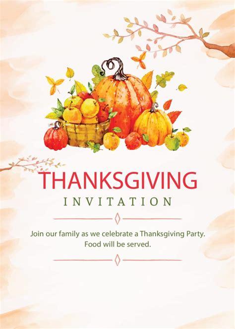 printable thanksgiving invitations editable  print