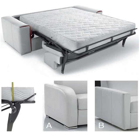 canapé lit haut de gamme canapé lit rapido en cuir avec matelas 18 cm verysofa renoir